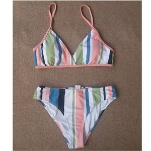 Cupshe Striped 2 piece Swimsuit Size M